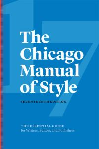 Jacket image for The Chicago Manual of Style