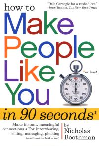 Jacket image for How to Make People Like You in 90 Seconds or Less