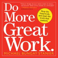 Jacket Image For: Do More Great Work