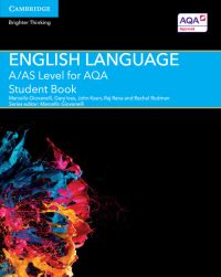 English language. A/AS level for AQA Student book