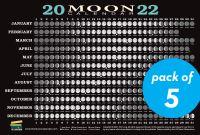 Jacket Image For: 2022 Moon Calendar Card (5 pack)