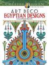 Creative Haven Art Deco Egyptian Designs Coloring Book