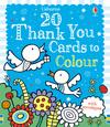 Twenty Thank You Cards to Colour
