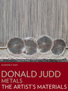 """Donald Judd:Metals - The Artist's Materials"" by Eleonora E. Nagy (author)"