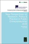 New perspectives on research, policy & practice in public entrepreneurship