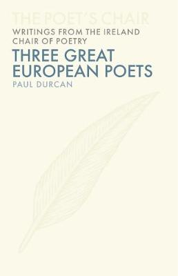Three European Poets Jacket Image