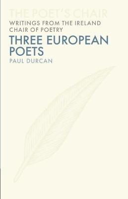 Three European Poets Jacket Image
