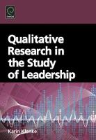 Jacket image for Qualitative Research in the Study of Leadership