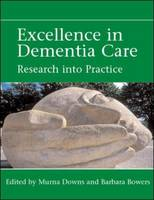 Jacket image for Excellence in Dementia Care