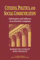Jacket image for Citizens, Politics and Social Communication