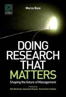 Jacket image for Doing Research That Matters