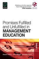 Jacket image for Promises Fulfilled and Unfulfilled in Management Education Volume 1