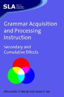 jacket Image for Grammar Acquisition and Processing Instruction