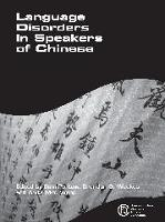 jacket Image for Language Disorders in Speakers of Chinese
