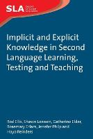 jacket Image for Implicit and Explicit Knowledge in Second Language Learning, Testing and Teaching