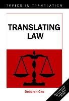 jacket Image for Translating Law