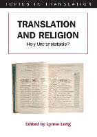jacket Image for Translation and Religion