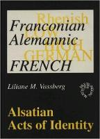 jacket Image for Alsatian Acts of Identity: Language Use and Language Attitudes in Alsace