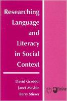 jacket Image for Researching Language and Literacy in Social Context