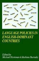 jacket Image for Language Policies in English-dominant Countries