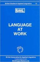 jacket Image for Language at Work (BAAL 13)