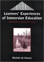 jacket Image for Learners' Experience of Immersion Education