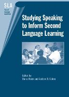 jacket Image for Studying Speaking to Inform Second Language Learning