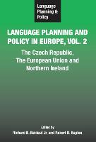 jacket Image for Language Planning and Policy in Europe Vol. 2