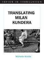 jacket Image for Translating Milan Kundera