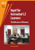 jacket Image for Input for Instructed L2 Learners