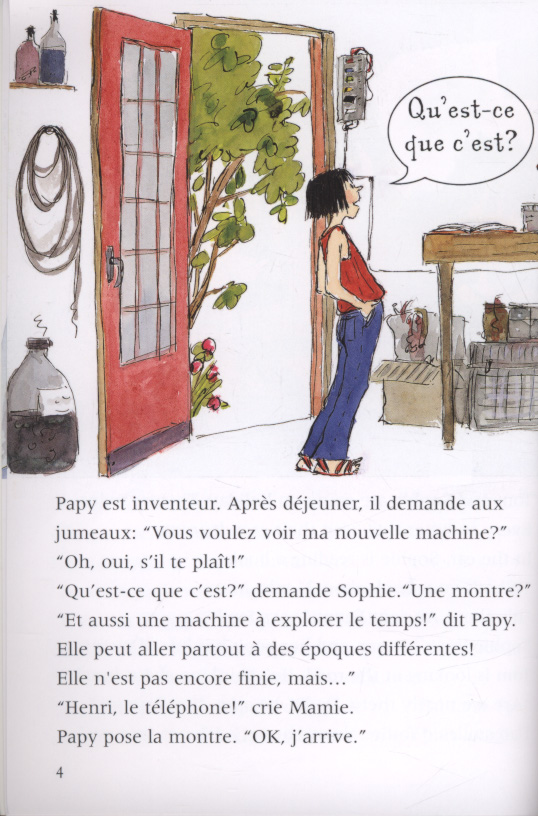 the twins and the time machine le jumeaux et la machine du temp french english edition