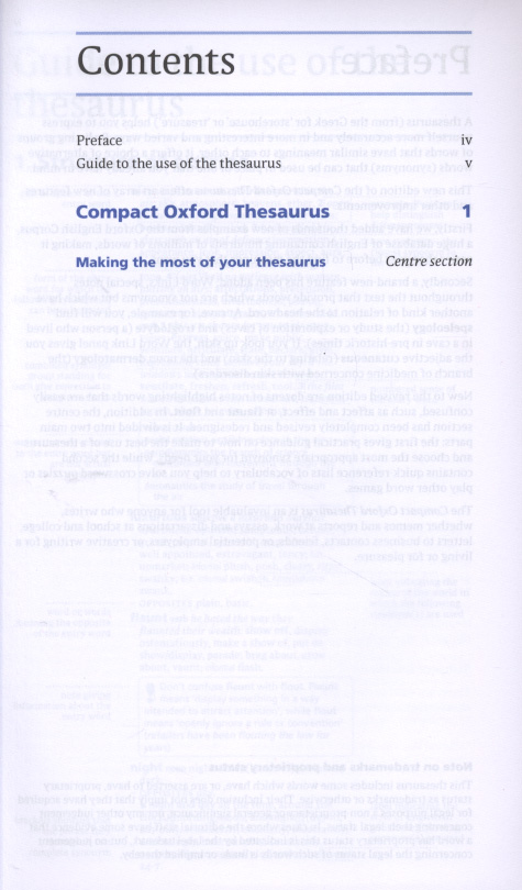 Compact Oxford Thesaurus 3rd Edition Edited by Maurice Waite 2008 Hardcover