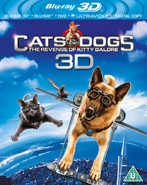 Cats and Dogs: The Revenge of Kitty Galore (2010) (Blu-ray) (3D Edition + 2D Edition + DVD + UltraViolet Copy) (Retail Only)