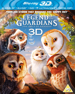 Legend of the Guardians - The Owls of Ga'Hoole (2010) (Blu-ray) (3D Edition + 2D Edition + DVD + UltraViolet Copy) (Retail Only)