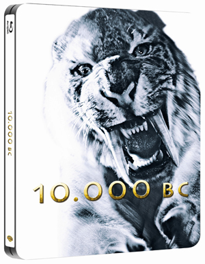 10,000 B.C. (2008) (Blu-ray) (Steel Book with UltraViolet Copy) (Retail / Rental)