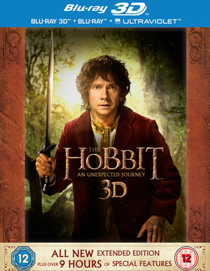 The Hobbit: An Unexpected Journey - Extended Edition (2012) (Blu-ray) (3D Edition with 2D Edition + UltraViolet Copy) (Retail On