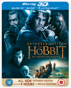 The Hobbit: An Unexpected Journey - Extended Edition (2012) (Blu-ray) (3D Edition with 2D Edition + UltraViolet Copy (Steelbook)