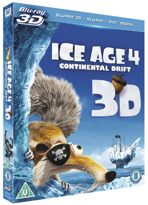 Ice Age 4 - Continental Drift (2012) (Blu-ray) (3D Edition + 2D Edition + DVD + UltraViolet Copy) (Deleted)