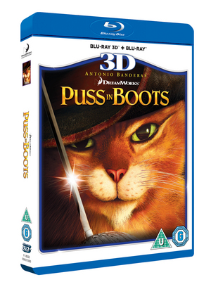 Puss in Boots (2011) (Blu-ray) (3D Edition with 2D Edition) (Retail / Rental)