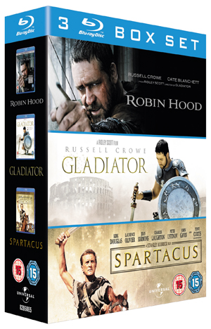 Robin Hood/Gladiator/Spartacus (2010) (Blu-ray) (Box Set) (Pulled)