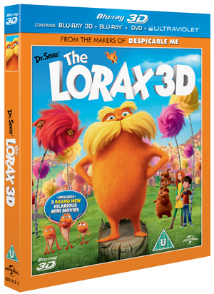 The Lorax (2012) (Blu-ray) (3D Edition + 2D Edition + DVD + UltraViolet Copy) (Retail Only)