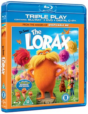 The Lorax (2012) (Blu-ray) (+ DVD + Digital Copy - Triple Play (Irish Version)) (Retail Only)