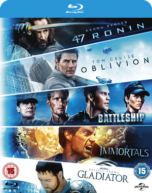 47 Ronin/Oblivion/Battleship/Immortals/Gladiator (2013) (Blu-ray) (Retail Only)