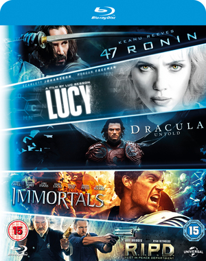 47 Ronin/R.I.P.D./Immortals/Dracula Untold/Lucy (2014) (Blu-ray) (Box Set) (Retail / Rental)