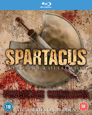 Spartacus: The Complete Collection (2013) (Blu-ray) (Box Set) (Retail / Rental)