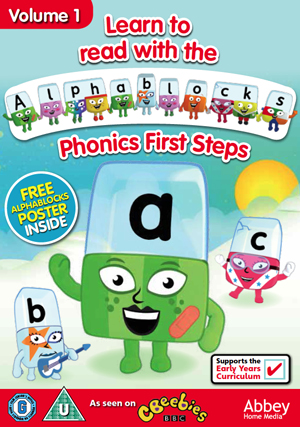 Alphablocks: Volume 1 - Phonics First Steps (2012) (Retail / Rental)