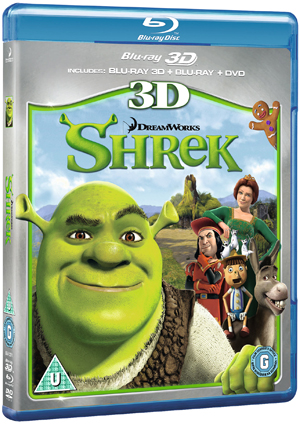 Shrek (2001) (Blu-ray) (3D Edition + 2D Edition + DVD - Triple Play) (Retail Only)