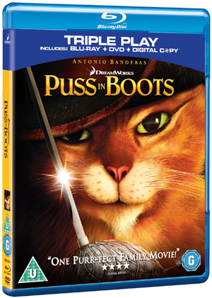 Puss in Boots (2011) (Blu-ray) (+ DVD and Digital Copy - Triple Play) (Deleted)