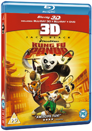 Kung Fu Panda 2 (2011) (Blu-ray) (3D Edition + 2D Edition + DVD - Triple Play) (Retail Only)
