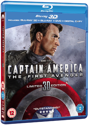 Captain America: The First Avenger (2011) (Blu-ray) (3D Edition + 2D Edition + DVD + Digital Copy) (Deleted)